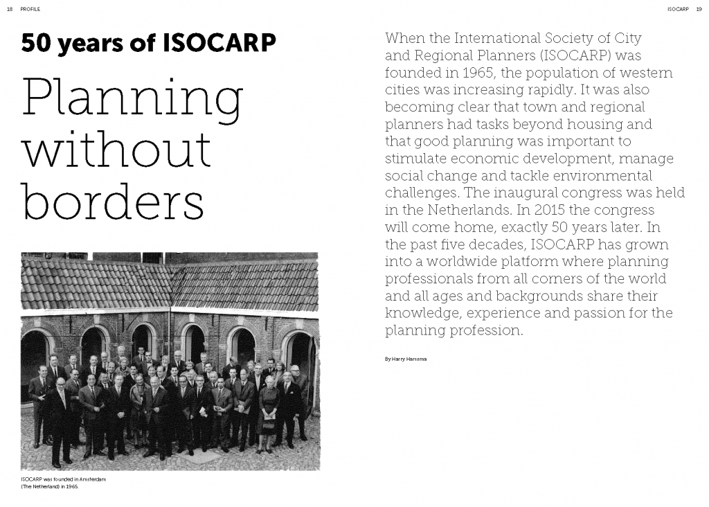 SPREADS #613_Scape Magazine_50 years of ISOCARP_Planning without borders_Pagina_1