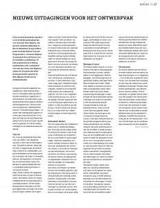 SPREAD #523_Blauwe Kamer_Nieuwe uitdagingen voor het ontwerpvak