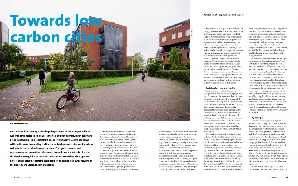SPREAD #605_Scape Magazine_Towards low carbon cities_Pagina_1