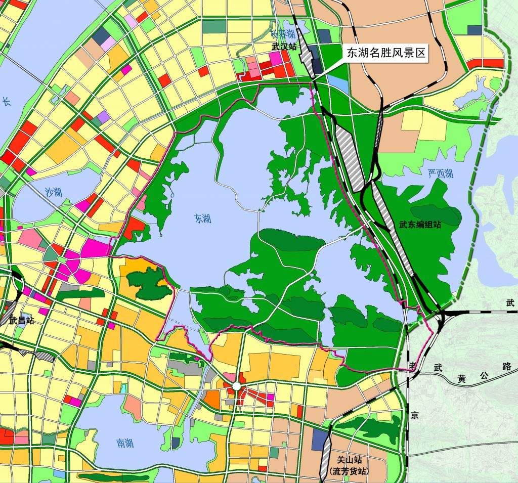 Wuhan East Lake Scenic Area Development Planning Connecting Cities EU